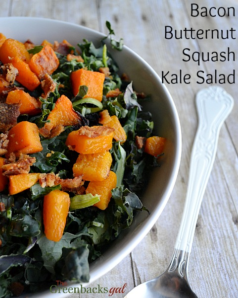 Bacon Butternut Squash Kale Salad Recipe