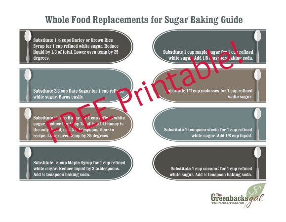 Free Printable Replacements for Sugar