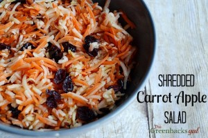 Shredded Carrot Apple Salad Recipe