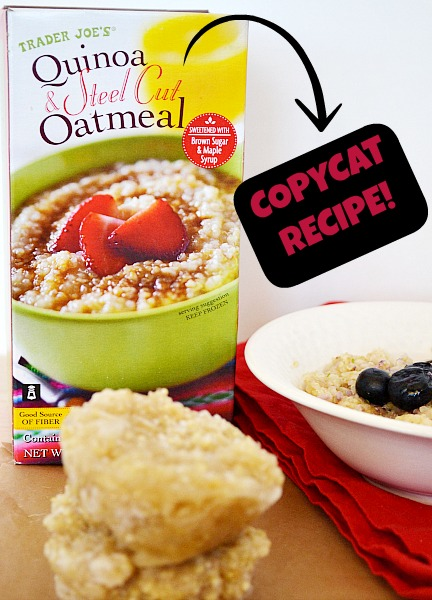 Trader Joes Copycat Quinoa and Steel Cut Oatmeal