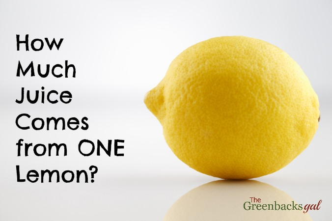 Juice One Lemon