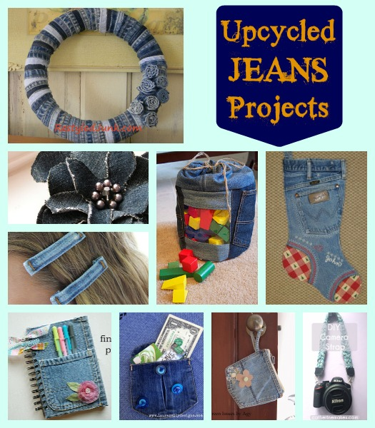 Upcycled Jeans Projects collage