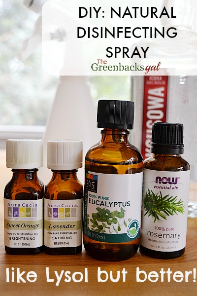 Natural Disinfecting Spray Like Lysol but made from all natural ingredients including essential oils