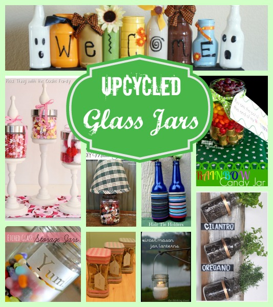 Upcycled Glass Jars Collage
