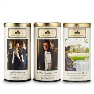downton abbey tea tins