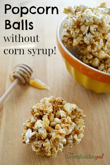 Sweet and Spicy Popcorn Balls Made Without Corn Syrup