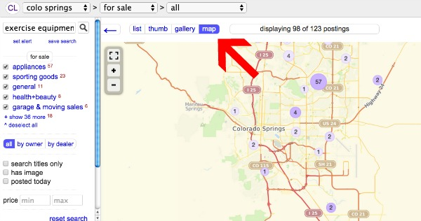 Search Craigslist by Map