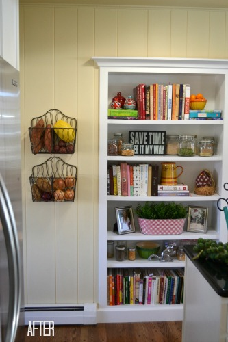 Bookshelf Built in Refrigerator Nook