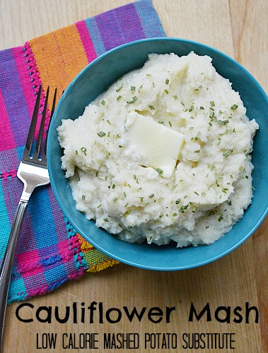 Cauliflower Mash Low Calorie Mashed Potato Substitute