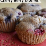 The Best Cherry Berry Whole Wheat Muffins