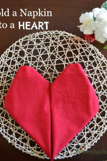 DIY: How to Fold a Napkin Into a Heart the Easy Way