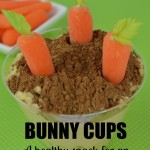 Bunny Cups a Healthy Snack for Easter Party