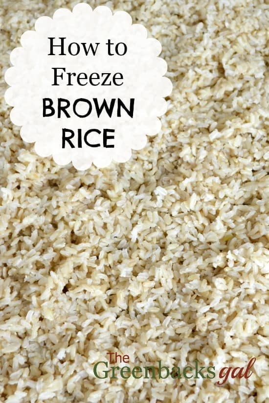 How to Freeze Cooked Brown Rice Title Page