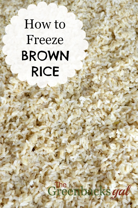How to Freeze Cooked Brown Rice