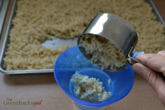 Portioning Cooked Brown Rice