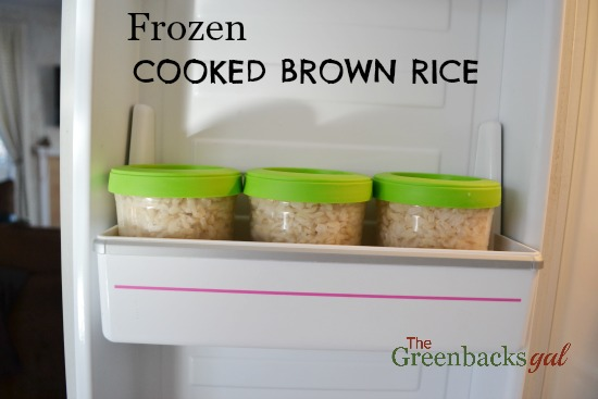 freeze cooked brown rice