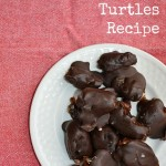 Healthy Chocolate Turtles are made with just three ingredients. It takes just minutes to whip up this healthy candy recipe.