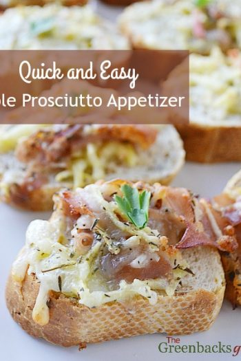Quick and Easy Apple Prosciutto Appetizers