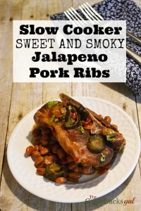 Slow Cooker Sweet and Smoky Jalapeno Pork Ribs