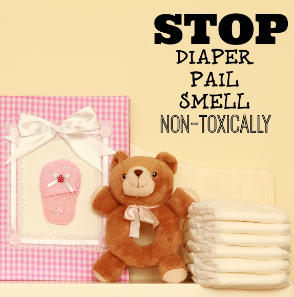 Make this homemade natural solution to stop diaper pail smell. It's a DIY that really works.
