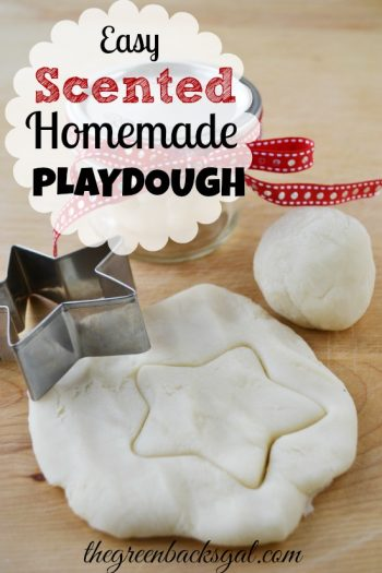 This Easy Scented Homemade Playdough Recipe yields a smooth dough of non-toxic ingredients scented with any essential oil you choose.