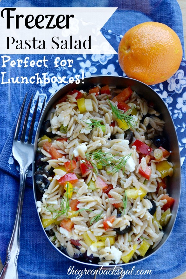 This freezer pasta salad recipe is perfect for make-ahead lunches. It's a healthy, whole food meal that can be frozen for up to 2 months.