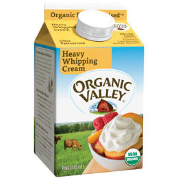organic valley heavy whipping cream