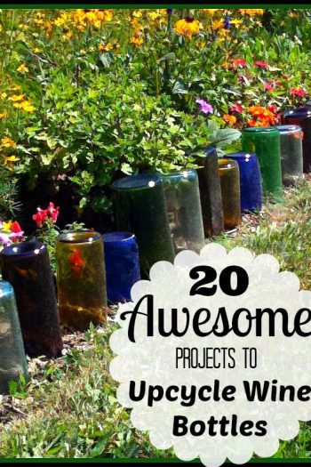 20 Awesome Projects to Upcycle Wine Bottles