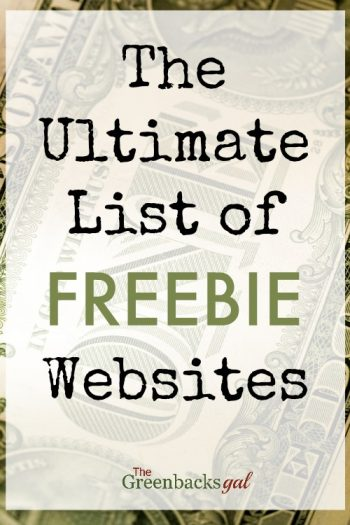 The Ultimate List of Freebie Websites