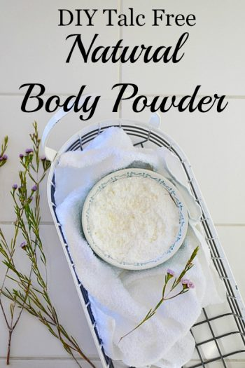 Here's a quick way to make your own natural body powder talc free! Highly absorbent with a fresh, energizing scent you'll love.