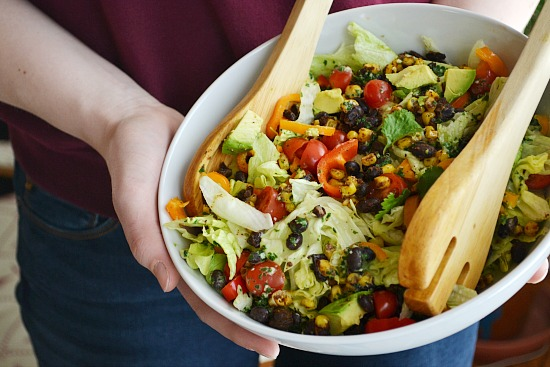Homemade Meatless Taco Salad