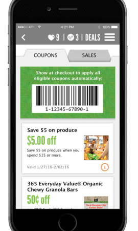 New Whole Foods Market Digital Coupons App