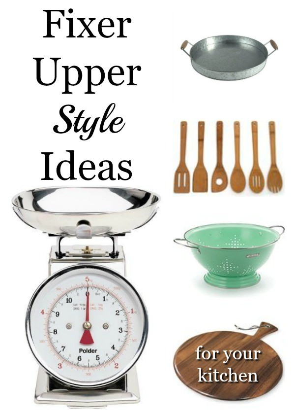 Fixer Upper Design Style Ideas for Your Kitchen. Steal some of Joanna's design style and add it to your own kitchen!