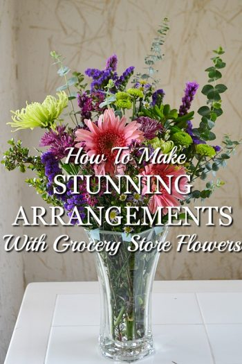 Turn Grocery Store Flowers Into a Stunning Arrangement