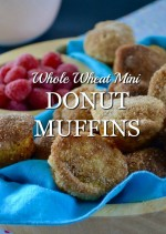 Baked Whole Wheat Mini Donut Muffins
