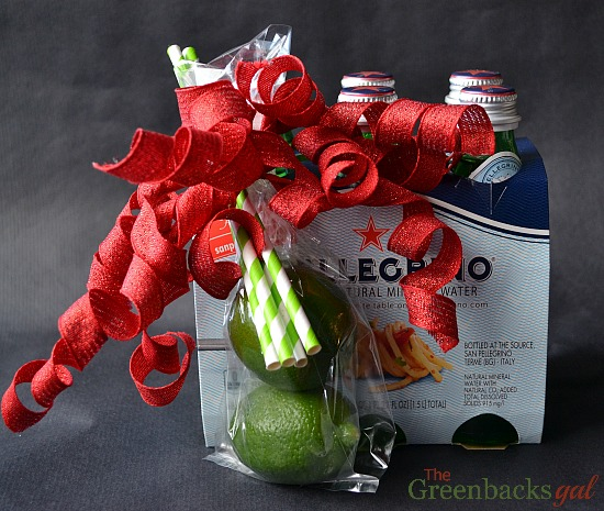 Sparkling Water Gift: An easy last minute gift you can pick up at the grocery store.