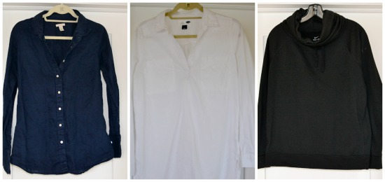Spring Capsule Wardrobe long sleeved shirts
