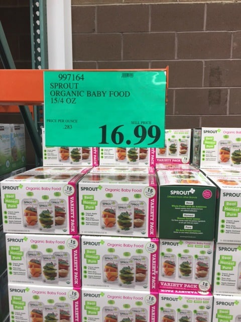 Costco Sprout Baby Food