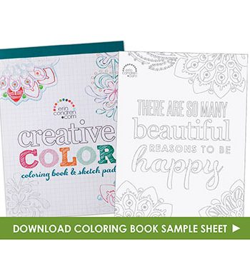 FREE Downloadable Adult Coloring Page