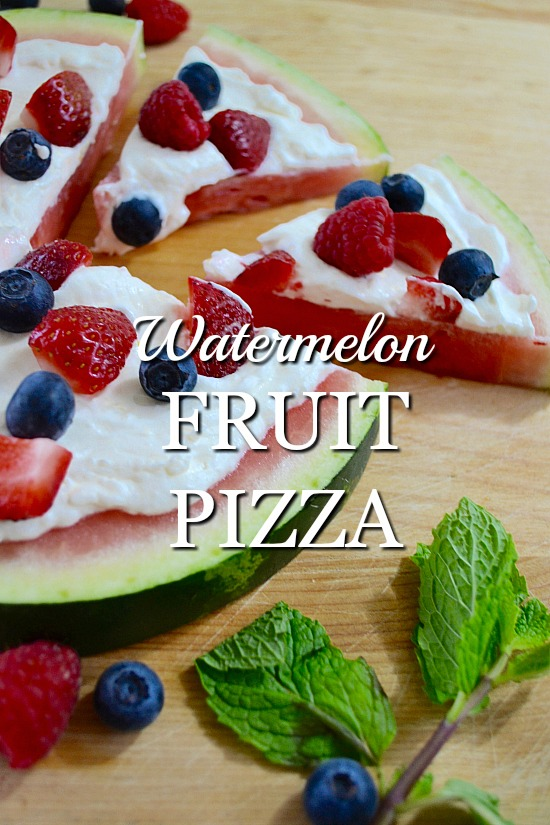 Create a healthy watermelon fruit pizza with cream cheese frosting. It's an easy and simple dessert recipe everyone will love.