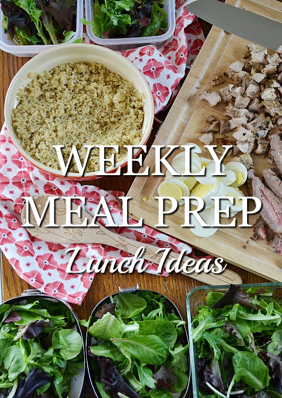 How to meal prep for the week with these easy ideas for healthy lunches. Prep for one or prep for the whole family.