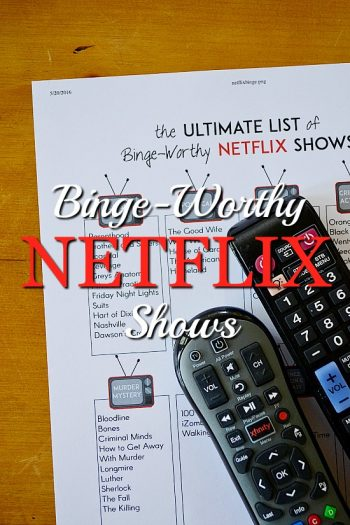What to Watch on Netflix: Free Printable