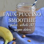 Faux-puccino smoothie uses only real food ingredients. It's the perfect healthy substitute for your Starbucks favorite.