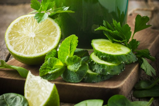 Lime and mint are key ingredients in a detox drink.