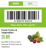Whole Foods Market: $5 off $20 Produce Purchase