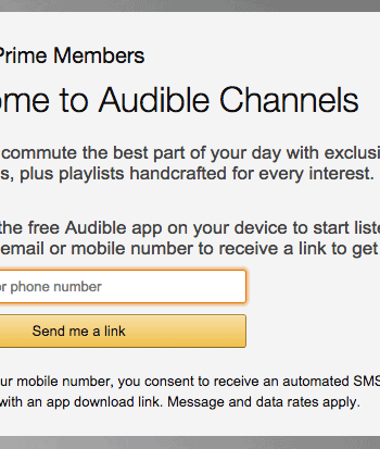 Amazon Prime Now Includes Audible App!