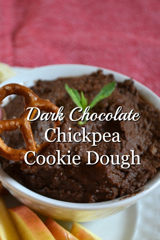 Enjoy this dark chocolate chickpea cookie dough recipe with fruit, or pretzels, or by the spoonful. Satisfy your sweet tooth in a healthier way.