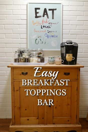 Breakfast Meal Prep Idea: Easy Toppings Bar