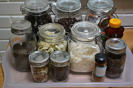 Here's an easy DIY idea for breakfast meal prep: set-up a toppings bar!
