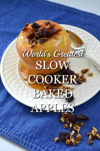The World's Greatest Slow Cooker Baked Apples Recipe